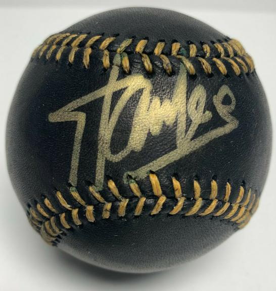 Stan Lee Signed Black Baseball PSA X79938 Marvel Avengers