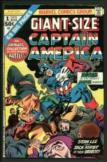 Stan Lee Signed Captain America #1 Comic Book Giant Size Annual PSA/DNA #W18825