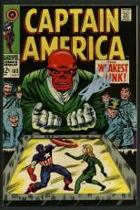 Stan Lee Signed Captain America #103 Comic Book Red Skull PSA/DNA #W18639