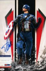 Stan Lee Signed Captain America 11x17 Photo - PSA/DNA # Y36082