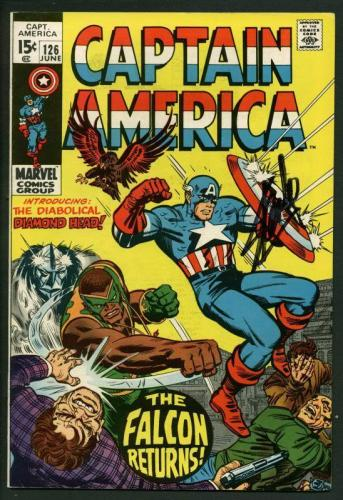 Stan Lee Signed Captain America #126 Comic Book Diamond Head/Falcon PSA #W18682