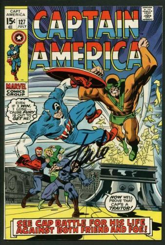 Stan Lee Signed Captain America #127 Comic Book Nick Fury PSA/DNA #W18677