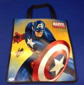 "Stan Lee signed Captain America 13"" X 15"" Handbag PSA/DNA  # X08058"