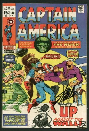 Stan Lee Signed Captain America #130 Comic Book Hulk/Batroc PSA/DNA #W18823