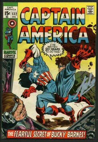 Stan Lee Signed Captain America #132 Comic Book Bucky Barnes PSA/DNA #W18640
