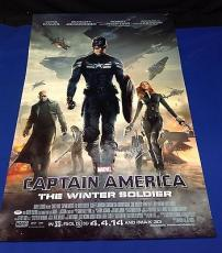 Stan Lee Signed Captain America 2 27x39 Movie Poster - PSA/DNA # X72275