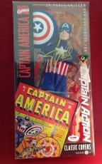 Stan Lee signed Captain America Classic Covers 1/6 Scale Figure PSADNA  # X39732