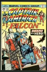Stan Lee Signed Captain America & Falcon 183 Comic Book Death Of Hero PSA W18683