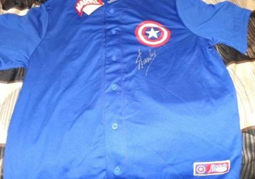 Stan Lee Signed Captain America Jersey Psa Dna Rare