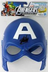 Stan Lee Signed Captain America Mask Signed In Black W/ Stan Lee Holo & PSA/DNA