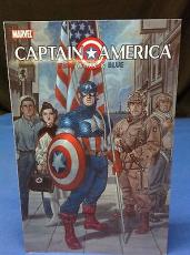 Stan Lee Signed Captain America Red, White & Blue Book - PSA/DNA # X08238