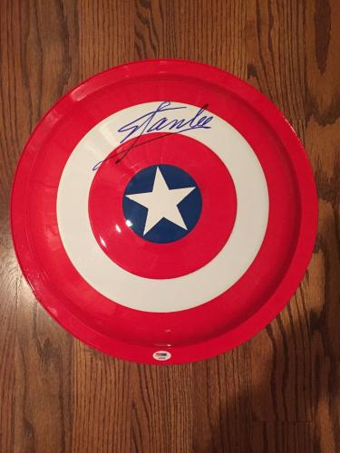 STAN LEE Signed Captain America Shield PSA DNA COA