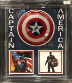 Stan Lee Signed Captain America Shield Shadowboxed (Chris Evans)