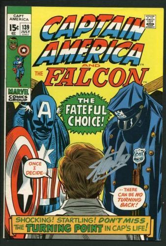 Stan Lee Signed Captain America & The Falcon #139 Comic Book PSA/DNA #W18641