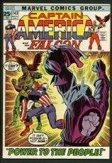 Stan Lee Signed Captain America & The Falcon #143 Comic Book PSA/DNA #W18718