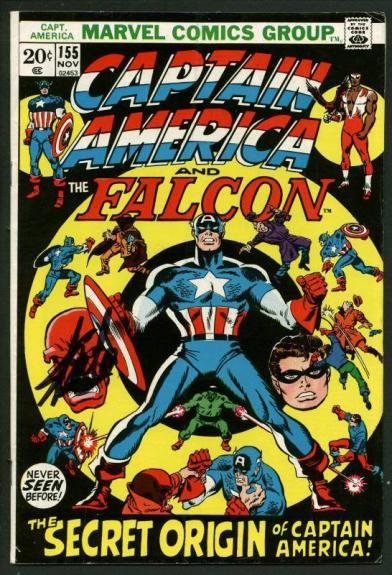 Stan Lee Signed Captain America & The Falcon #155 Comic Book PSA/DNA #W18681