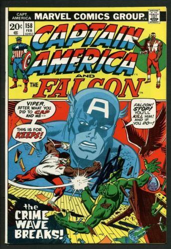 Stan Lee Signed Captain America & The Falcon #158 Comic Book Viper PSA #W18678