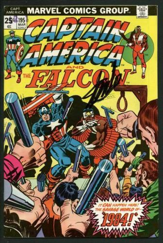 Stan Lee Signed Captain America & The Falcon #195 Comic Book PSA/DNA #W18826