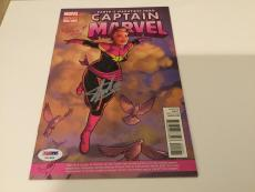 Stan Lee Signed Captain Marvel Comic Book Variant Edition 5 PSA/DNA COA Marvel