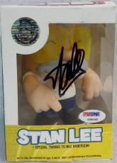"""Stan Lee Signed Chibi Style Stan Lees Collectibles 5"""" Vinyl Figurine A PSA"""