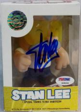 """Stan Lee Signed Chibi Style Stan Lees Collectibles 5"""" Vinyl Figurine B PSA"""