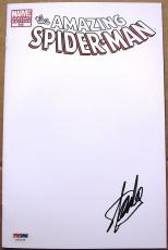 Stan Lee signed Comic Book Amazing Spiderman 648 White Cover PSA/DNA autographed