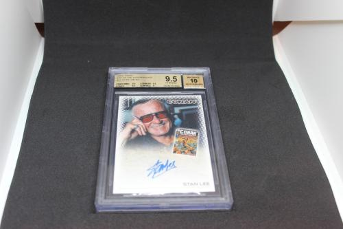 Stan Lee Signed Conan The Barbarian Card BGS 9.5 Autograph Grade 10 #A1