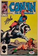 STAN LEE Signed Conan the Barbarian Marvel Comic #178 AUTO w/ PSA/DNA COA