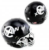 Stan Lee Signed Custom Black X-Men Schutt Full Size Helmet
