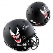 Stan Lee Signed Custom Venom Face Schutt Full Size Helmet