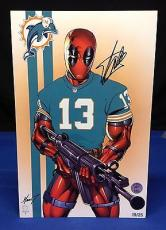 Stan Lee Signed Deadpool: Miami Dolphins - 11x17 Print # 19/25