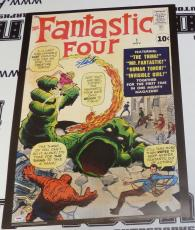 Stan Lee Signed Fantastic Four 4 #1 Comic Book 20x28 Poster PSA/DNA COA Marvel