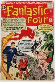 Stan Lee Signed Fantastic Four #6 Comic Book 2Nd Doom Auto Graded 10! PSA V07976