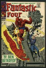 Stan Lee Signed Fantastic Four #69 Comic Book By Ben Betrayed PSA/DNA #W18831