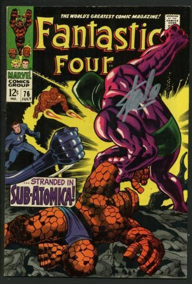 Stan Lee Signed Fantastic Four #76 Comic Book Sub-Atomica PSA/DNA #W18834