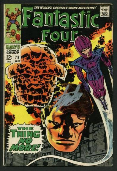 Stan Lee Signed Fantastic Four #78 Comic Book The Thing No More PSA/DNA #W18836