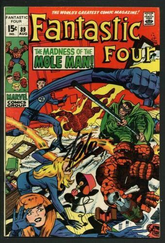 Stan Lee Signed Fantastic Four #89 Comic Book Mole Man PSA/DNA #W18854