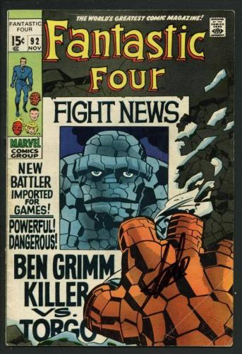 Stan Lee Signed Fantastic Four #92 Comic Book Ben Grimm Killer PSA/DNA #W18830