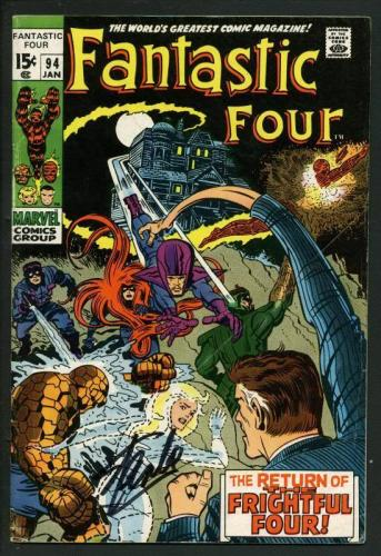 Stan Lee Signed Fantastic Four #94 Comic Bookthe Frightful Four PSA/DNA #W18827