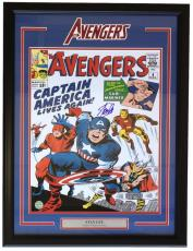 Stan Lee Signed Framed 16x20 Avengers Photo SI+Lee Holo