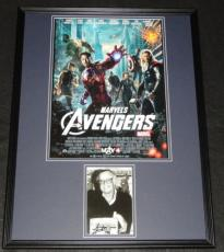 Stan Lee Signed Framed 18x24 Avengers Photo Poster Display JSA
