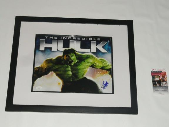 Stan Lee Signed Framed & Matted Incredible Hulk 11x14 Marvel Comics Jsa Coa