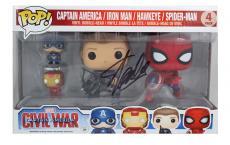 Stan Lee Signed Funko Pop! Marvel Civil War 4 Pack