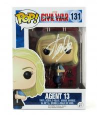 Stan Lee Signed Funko Pop! Marvel Civil War Agent 13 Toy