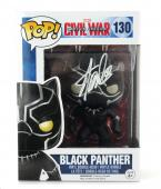 Stan Lee Signed Funko Pop! Marvel Civil War Black Panther Toy