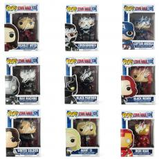 Stan Lee Signed Funko Pop! Marvel Civil War Bundle - 9 Characters