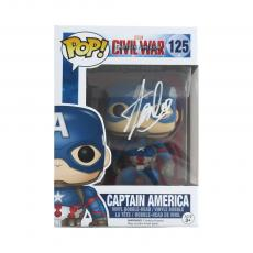 Stan Lee Signed Funko Pop! Marvel Civil War Captain America Toy