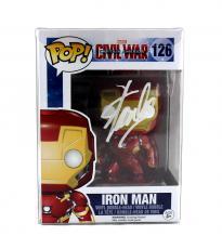 Stan Lee Signed Funko Pop! Marvel Iron Man Civil War #126 Funko Action Figure