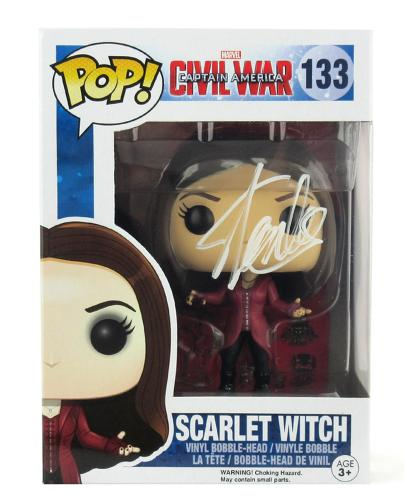 Stan Lee Signed Funko Pop! Marvel Civil War Scarlet Witch Toy