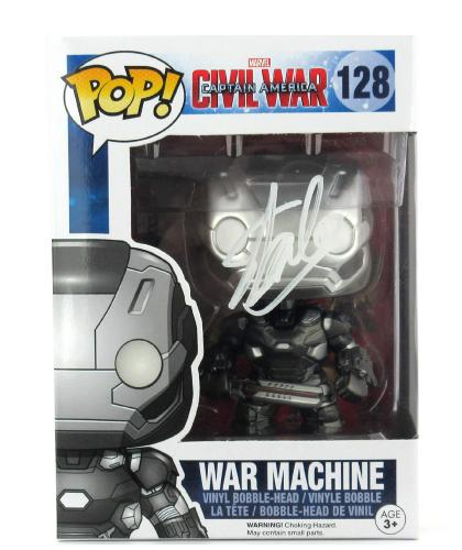 Stan Lee Signed Funko Pop! Marvel Civil War War Machine Toy